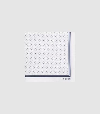 Reiss Jupiter - Silk Pocket Square in White