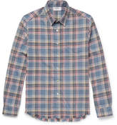 Frame Slim-Fit Checked Flannel Shirt