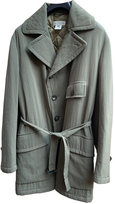Dries Van Noten Green Wool Coats