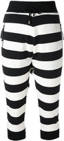 Unconditional striped crop trousers