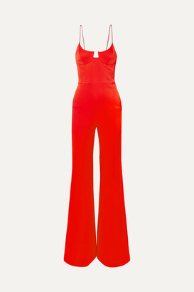 Galvan Phoebe Satin-crepe Jumpsuit - Red