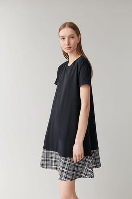 Cos Dress With Contrast Hem