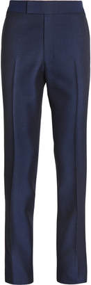 Kingsman Navy Slim-Fit Wool And Mohair-Blend Tuxedo Trousers