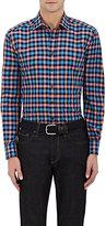 Etro Men's Checked Linen-Cotton Shirt