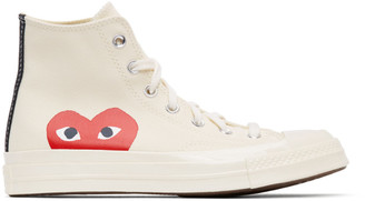 Comme des Garcons Off-White Converse Edition Half Heart Chuck 70 High Sneakers