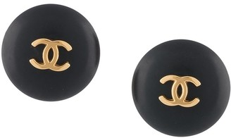 Chanel Pre Owned 1995 CC logo button earrings