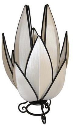Rovan Artichoke Small Table Lamp White