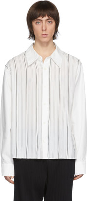 Our Legacy White Stripe Placket Shirt
