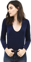 West Coast Wardrobe Newport Long Sleeve Bodysuit in Navy