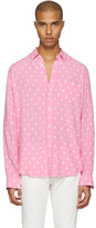 Saint Laurent Pink Polka Dot Shirt