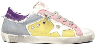 Golden Goose Superstar Sneaker in Multicolor Patch Canvas/White Star