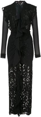 Proenza Schouler Long Sleeve Corded Lace Dress