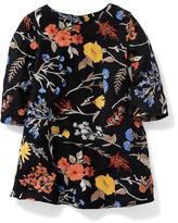 Old Navy A-Line Floral Crepe Dress for Toddler
