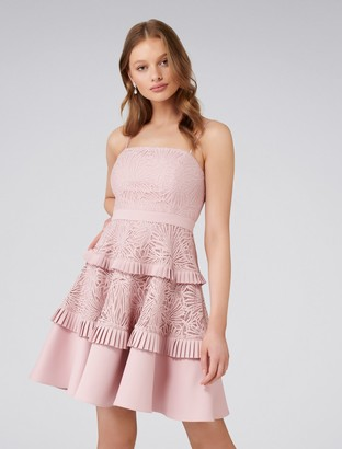 Ever New Angel Petite Strappy Spliced Lace Dress