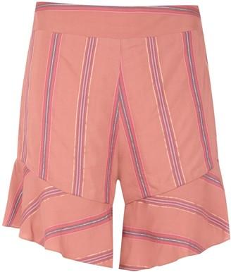 Olympiah Drina striped shorts