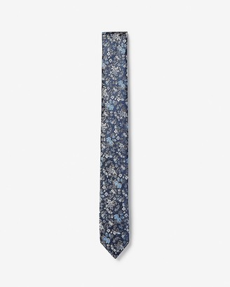 Express Skinny Woven Floral Tie