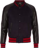 Alexander McQueen Wool and cashmere-blend varsity jacket