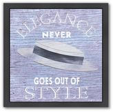 "Americanflat ""Elegance Never Goes Out Of Style"" Black Framed Wall Art"