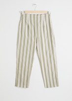 And other stories Linen Blend Cropped Trousers
