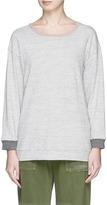 James Perse Colourblock garment dyed cotton sweatshirt