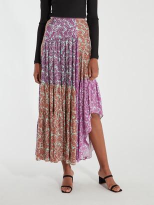 AMUR Scout Asymmetrical Maxi Skirt