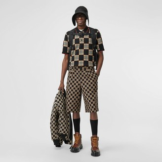 Burberry Chequer Cotton Jacquard Tailored Shorts