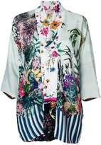 Black Coral printed kimono jacket