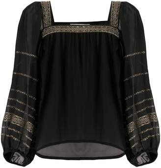 Yves Saint Laurent Pre Owned 1970s Embroidered Tunic Blouse
