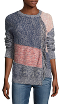 BCBGMAXAZRIA Carolynn Paneled Cotton Sweater