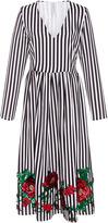 Alcoolique Eveline V Neck Stripe Dress