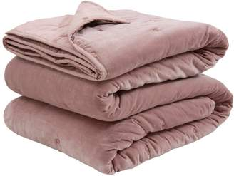 Wallace Cotton Rose Chalet Superking Velvet Bedspread