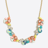 J.Crew Factory Crystal paint party necklace