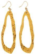 Devon Leigh Hammered 18k Gold Plate Oval Earrings
