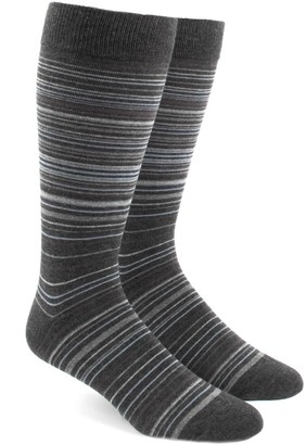 The Tie Bar Greys Multistripe Socks