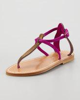 K. Jacques Buffon 2-Tone Strappy Thong Sandal