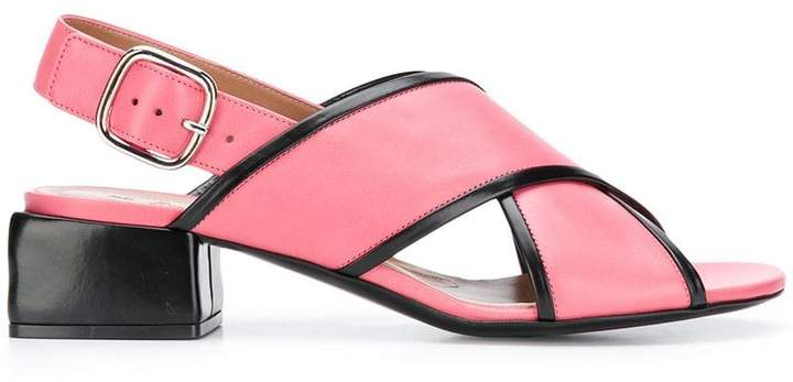 Marni cross over strap sandals