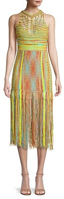 M Missoni Woven Fringed Midi Dress