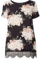 Dorothy Perkins Womens DP Curve Plus Size Blush Blossom Floral Top- Pink