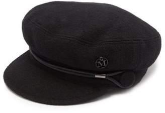 Maison Michel New Abby Wool-blend Baker Boy Cap - Womens - Black