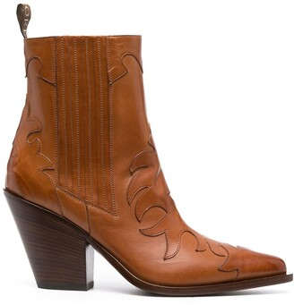 Sartore Patchwork Leather Boots