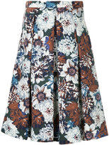 GUILD PRIME floral pleated skirt