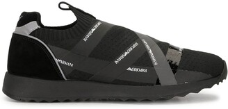 Emporio Armani Logo-Tape Low-Top Sneakers