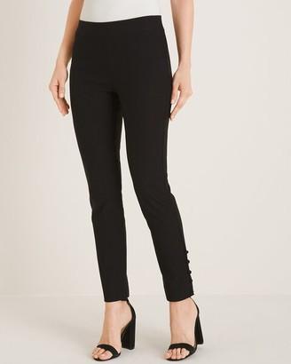 BRIGITTE Button-Hem Ankle Pants
