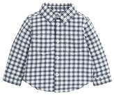 Mamas and Papas Baby-Boys Jersey Shirt Printed Check Checkered Long Sleeve Shirt