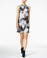Bar III Printed Shift Dress, Only at Macy's