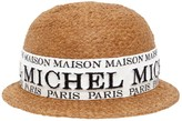 Maison Michel Rie Logo Faux Straw Hat