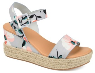 Journee Collection Dulcie Espadrille Wedge Sandal