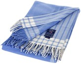 Lexington Cottage Classic Blue/White Wool Throw - 130x170cm