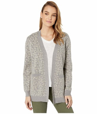 Cupcakes And Cashmere Women's Cheyenne Leopard Jacquard Cardigan