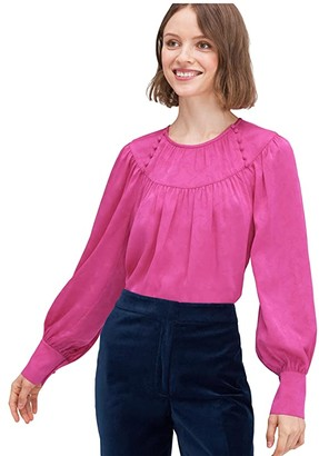 Kate Spade Solid Jacquard Top (Magenta Crush) Women's Clothing